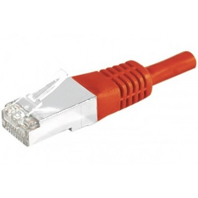 Cordon CAT5e blindé Rouge 1m